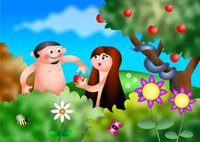Adam and eve Royalty Free Stock Photo