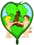 Adam and Eve vector illustration