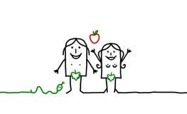 Adam & Eve Royalty Free Stock Photography