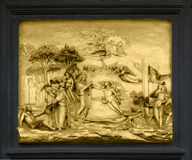 Adam and Eve - bas-relief, Florence, Italy Royalty Free Stock Photography