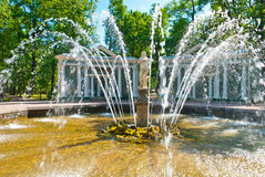 Adam and Eve Fountain. In Peterhof Park in Peterhof, Russia Stock Photography
