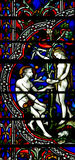 Adam and Eve in Paradise (stained glass) Royalty Free Stock Photography