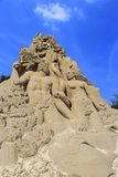 Adam and eve sand sculpture Royalty Free Stock Photo