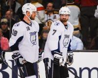 Adam Hall und Brett Clark, Tampa Bay Lightning Lizenzfreies Stockbild