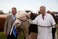 Adam Henson and champion bull Stock Photos