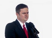 Adam Hofman, portavoce di legge polacca di opposizione e giustizia Immagini Stock Libere da Diritti