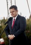 Adam Hofman, portavoce di legge polacca di opposizione e giustizia Fotografie Stock Libere da Diritti