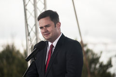 Adam Hofman, portavoce di legge polacca di opposizione e giustizia Immagini Stock
