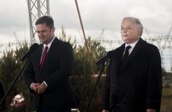 Adam Hofman, portavoce di legge polacca di opposizione e giustizia, spirito Immagine Stock