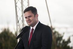 Adam Hofman, Sprecher polnischen Opposition Gesetzes und Gerechtigkeit Stockbilder
