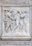 Adam i wigilia, wygnanie od raju obrazy royalty free