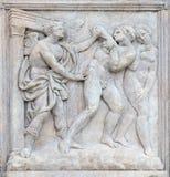 Adam i wigilia, wygnanie od raju zdjęcie stock