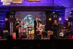 Adam Kawonczyk Quartet, der Live-Musik am €™ Krakaus Jazz All Soulsâ Tagesfestival im Wieliczka-Salzbergwerk spielt Lizenzfreie Stockbilder