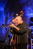 Adam Kawonczyk Quartet, der Live-Musik im Krakau Jazz All Souls Day Festival spielt Lizenzfreie Stockbilder