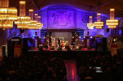 Adam Kawonczyk Quartet, der Live-Musik im Krakau Jazz All Souls Day Festival spielt Lizenzfreies Stockbild