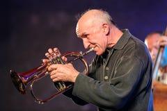 Adam Kawonczyk Quartet, der Live-Musik im Krakau Jazz All Souls Day Festival spielt Lizenzfreies Stockfoto