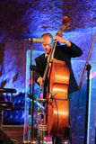 Adam Kawonczyk Quartet playing live music at The Cracow Jazz All Souls' Day Festival in The Wieliczka Salt Mine Royalty Free Stock Image