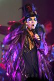 Adam Lambert performs in concert. On his Glam Nation Tour at the Seminole Hard Rock Hotel and Casino in Hollywood, Florida on September 19, 2010 stock image