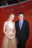 Adam Leon und Grace Van Patten auf dem roten Teppich Lizenzfreies Stockbild