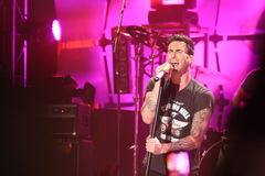 Adam Levine in concert Stock Photos