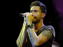 Adam Levine of Maroon 5 - Live Performance Royalty Free Stock Photos