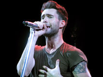 Adam Levine of Maroon 5 - Live Performance Royalty Free Stock Photo