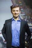 Adam Malysz (polnischer ehemaliger Skispringer und gegenwärtiger Sammlungsfahrer Stockfotografie