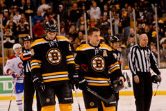 Adam McQuaid and Andrew Ference Stock Images