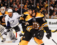 Adam McQuaid Boston Bruins Arkivbild