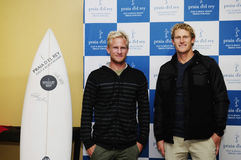 Adam Melling and Bede Durbidge, RIP Curl Pro Portugal 2013 Royalty Free Stock Photography