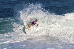 Adam Melling Surfing in the Pipeline Masters Stock Photo