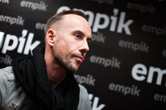 Adam Michal Darski - Nergal. 19.01.2013 Poznan On Photo Adam Michal Darski (born 10 June 1977 in Gdynia), also known by his stage name Nergal, is a Polish Royalty Free Stock Photo