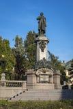 Adam Mickiewicz, berühmte polnische Dichterstatue in Warschau Lizenzfreies Stockbild