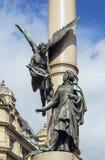 Adam Mickiewicz Column, Lemberg, Ukraine Lizenzfreies Stockbild