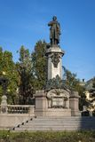 Adam Mickiewicz, famous Polish poet statue in  Warsaw Royalty Free Stock Image