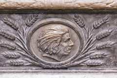 Adam Mickiewicz-Grab in Wawel-Kathedrale Krakau, Polen Lizenzfreie Stockbilder