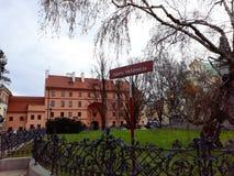 Adam Mickiewicz Monument beim Krakowskie Przedmiecie Lizenzfreies Stockbild