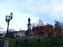 Adam Mickiewicz Monument beim Krakowskie Przedmiecie Stockbilder