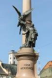 Adam Mickiewicz Monument im Stadtzentrum Lemberg, Ukraine Stockbild