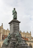 Adam Mickiewicz monument in Krakow, Poland. Stock Images