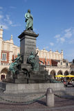 Adam Mickiewicz Monument in Krakow Royalty Free Stock Images