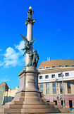 Adam Mickiewicz Monument in Lviv, Ukraine Royalty Free Stock Image