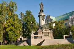 Adam Mickiewicz monument in Warsaw Royalty Free Stock Photography