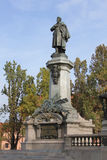Adam Mickiewicz Monument in Warsaw, Poland Royalty Free Stock Photo