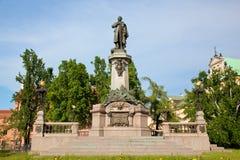 Adam Mickiewicz Monument in Warsaw, Poland Stock Image