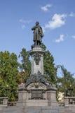 Adam Mickiewicz Monument in Warschau Stockbild