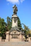 Adam Mickiewicz Monument in Warshau Royalty-vrije Stock Foto's