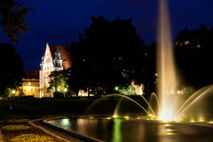 Adam Mickiewicz Park and UAM hall in Poznan Stock Photography