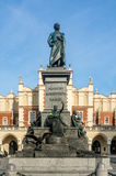 Adam Mickiewicz statua w Krakowskim, Polska Obrazy Royalty Free