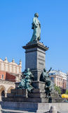 Adam Mickiewicz statue in Cracow, Poland Stock Images